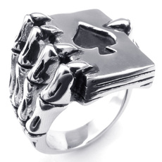 Poker, titanium steel, Steampunk, Stainless Steel