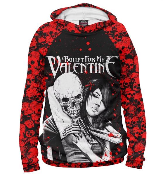 New Hoodie Sweatshirt Music Bullet For My Valentine Girl Skull Gun Unisex Tracksuit Plus Size S 5xl Z4 Wish