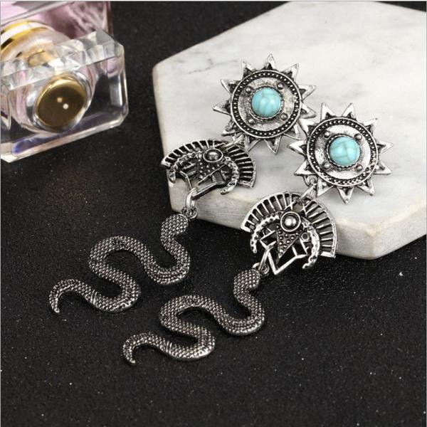 halloweenearring, Cobra, silversnakeearring, Jewelry