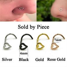 Steel, lippiercing, Crystal, goldnosering