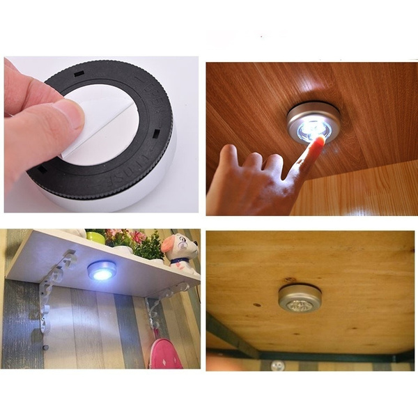 Led Small Night Light Clap Lamp Touch Lamp Emergency Lamp Originality Paste Lamp Bedroom Bedside Small Light Stick Metope On Lamp Wish