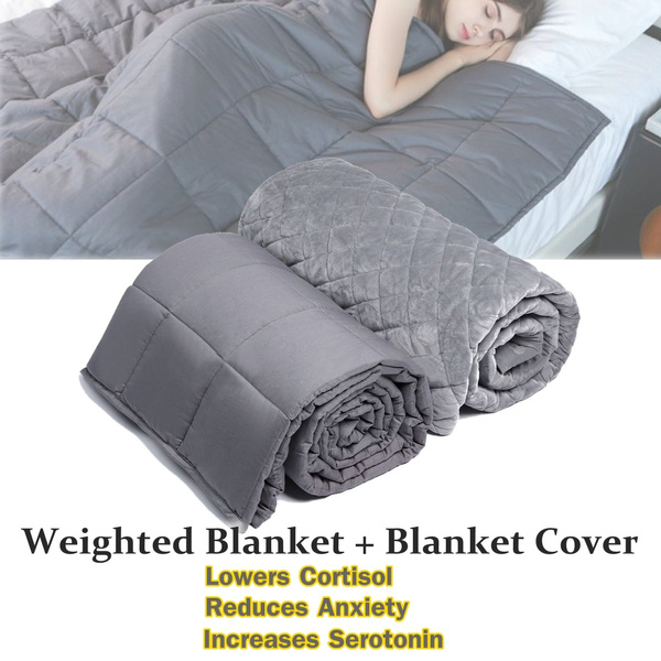 Weighted Blanket Cover Sleep Therapy KIDS /& ADULT Size AUTISM ADHD Improve Sleep