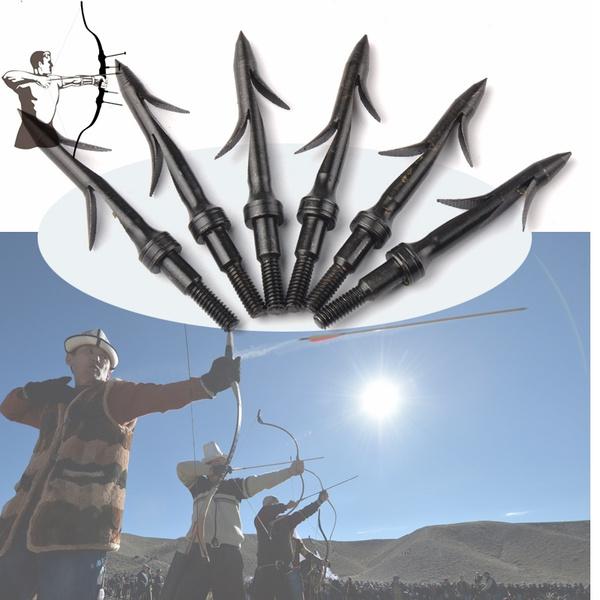 3X 135 Grain Bow Fishing Arrow Heads Arrowhead Compound Recurve Bow Fishing Tips