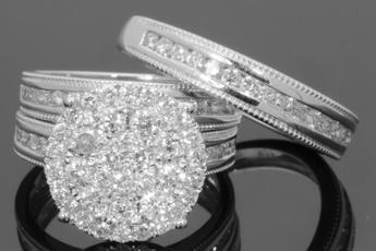 White Gold, Sterling, Unique, DIAMOND