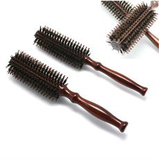 hairceramicroundbrush, Wooden, Hair Care, hairbrush