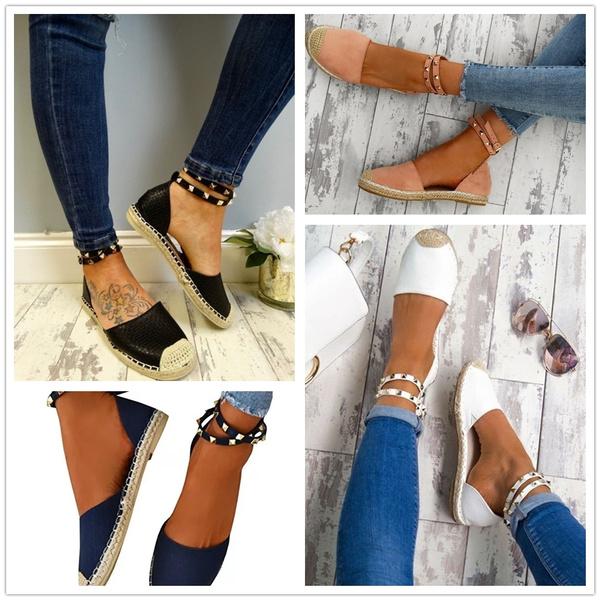 Shoes Sexy Flat Shoe Rivet Shoes