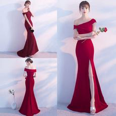 weddingparty, boatneckline, Bridal, Formal Dress