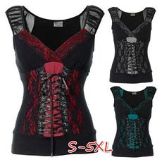 Summer, Goth, Plus Size, Cotton T Shirt