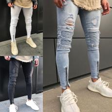 men's jeans, Slim Fit, men jeans, rippedjean