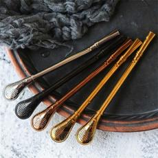 metalstrawsspoon, Steel, reusablestraw, steelstrawspoon