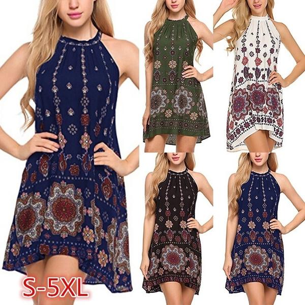 bohemia, Summer, Plus Size, short dress