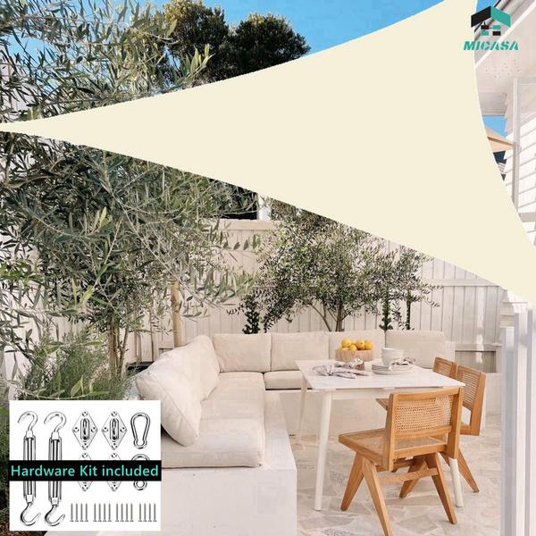 Patio, shadesailcanopy, Triangles, Garden
