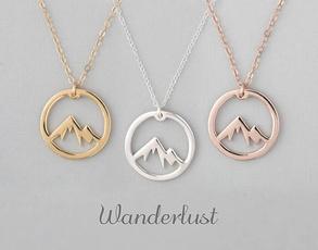 Mountain, Jewelry, Gifts, wanderlust