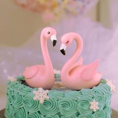 pink, flamingo, Baking, caketopper