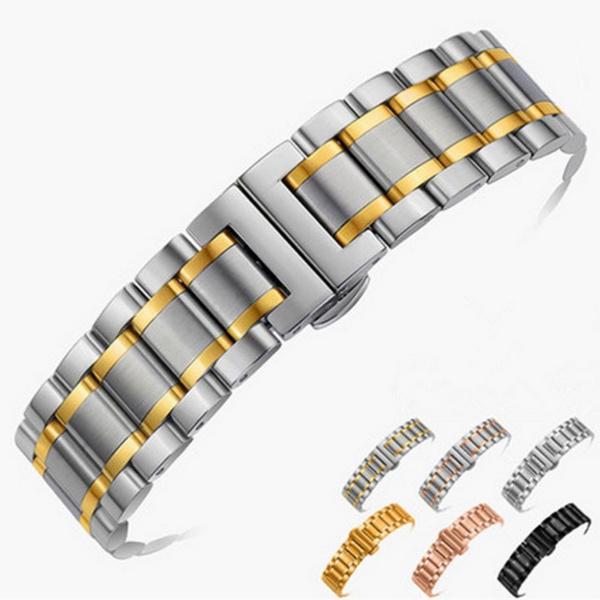 Steel, stainlesssteelstrap, gold, smartwatchband
