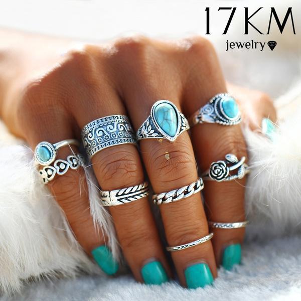 Turquoise, Fashion, Princess, Silver Ring