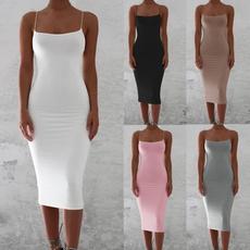 slim dress, sleeveless, fashion dress, Dress