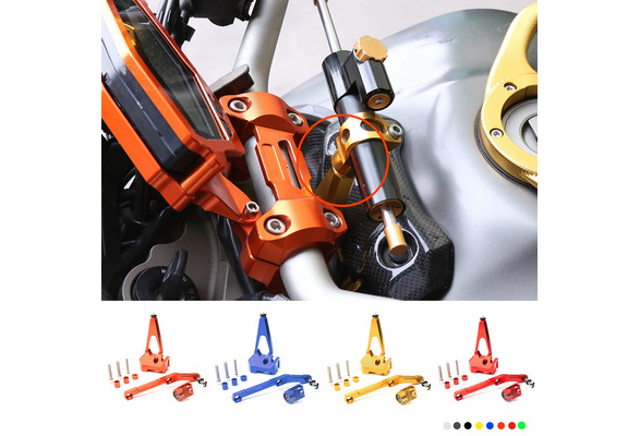 with MT-09 logo LQ CNC Motorcycle Steering Damper Stabilizer For YAMAHA MT-09