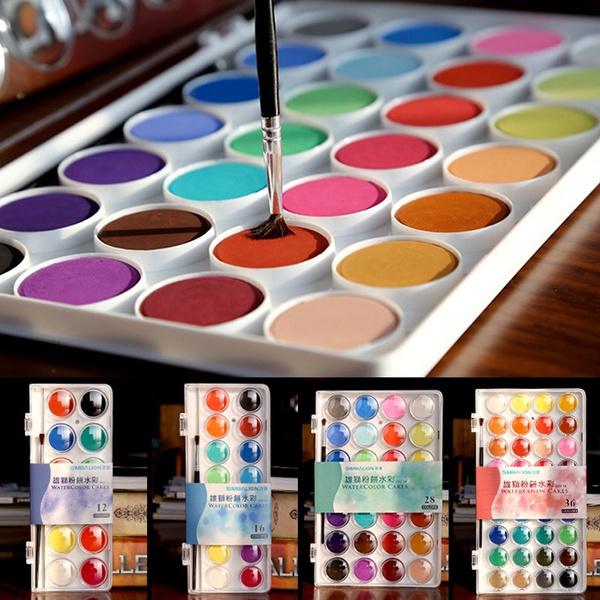 Art Supplies, paintingpigment, paintset, watercolorpainting