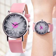 dial, Flowers, Waterproof Watch, Gifts