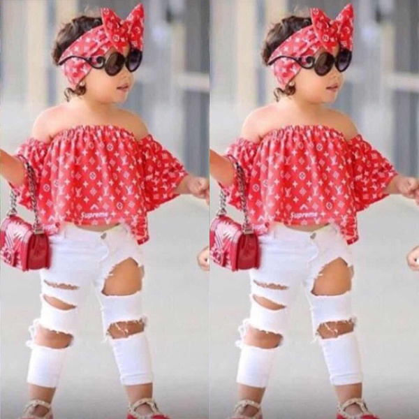 Baby, off shoulder top, Toddler, bowknotheadwear