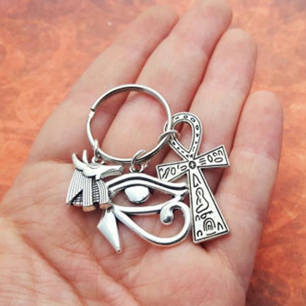 egyptkeyring, Key Charms, eyeofhoruscharm, Key Chain