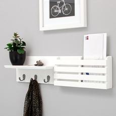 Wall Mount, letterholder, mailsorter, Hooks