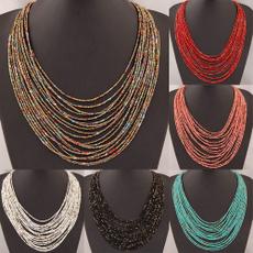 beadnecklace, stringnecklace, Bead, Jewelry