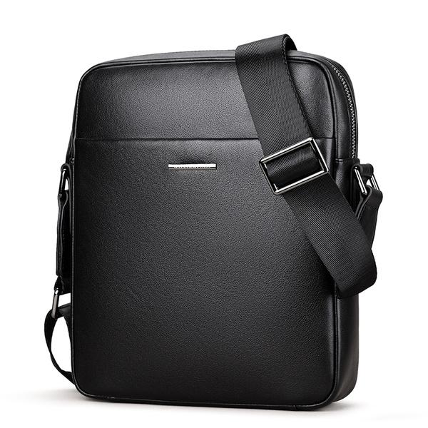 Shoulder, Pocket, Adjustable, genuine leather bag.