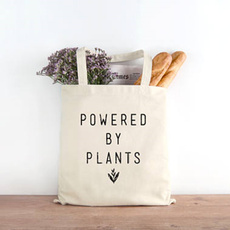 poweredbyplantstotebag, Canvas, Totes, Gifts