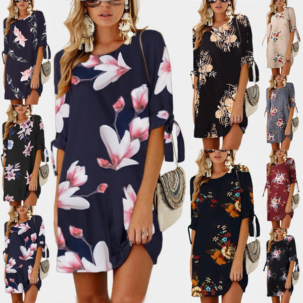 Summer, Floral print, femaleclothe, Sleeve