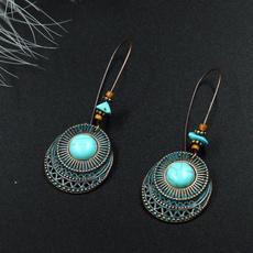 Turquoise, Dangle Earring, Jewelry, vintage earrings