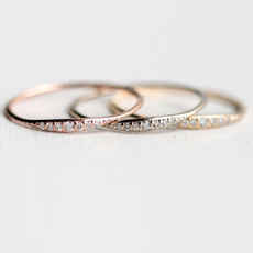 White Gold, stackablering, gold, Engagement Ring