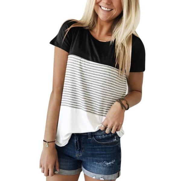 blouse, Women, short sleeve dress, Cotton T Shirt