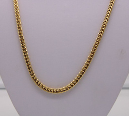 yellow gold, Chain Necklace, Square, Jewelry