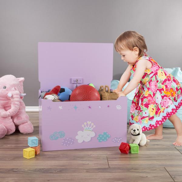 pink, Storage & Organization, lid, toybox