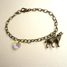 Charm Bracelet, Heart, Jewelry, heartcrystalcharmbracelet