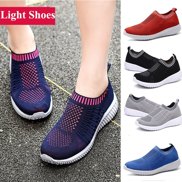 TIOSEBON Women's Athletic Shoes Casual Mesh Walking Sneakers - Breathable  Running Shoes Textile Women Shoes Slip on Shoes | Wish