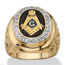 Jewelry, gold, knighttemplar, Vintage
