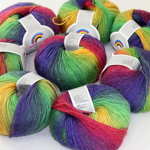 rainbow, craftscrochetwoolyarn, hatsscarvesshawl, Gel