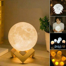3dlamp, 3dmoonlamp, Night Light, usb