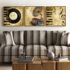 musicpainting, Decor, Musical Instruments, Home Decor