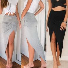 long skirt, Fashion, high waist, long dress
