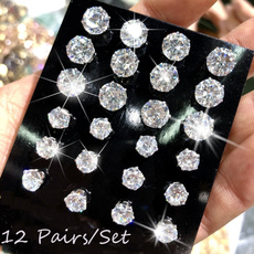 Steel, Cubic Zirconia, earrings jewelry, Jewelry
