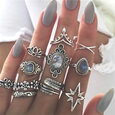 crystal ring, punk rings, crossring, flowerring