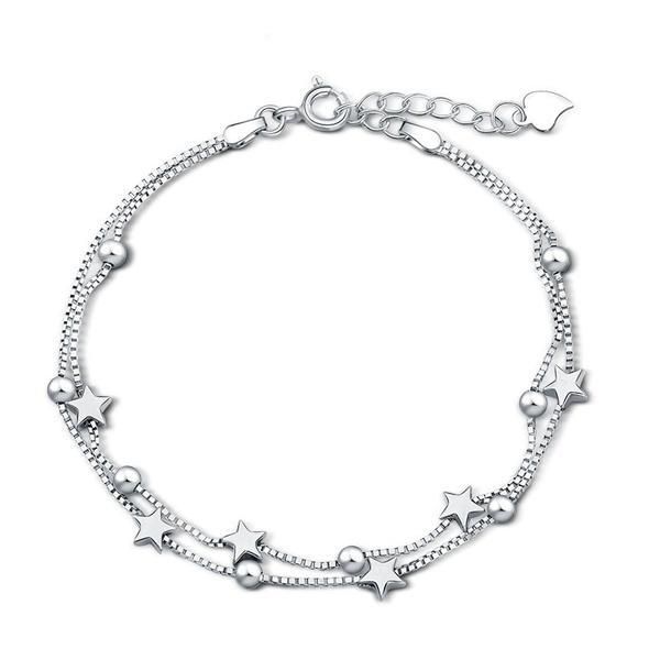 Sterling, Charm Bracelet, Star, Jewelry