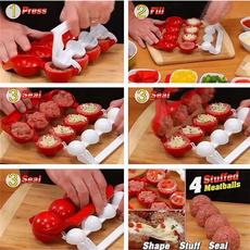 Kitchen & Dining, meatballmaker, Meat, homemadestuffedmeatball