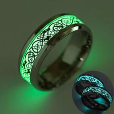 Steel, Dark, Women Ring, Silver Ring