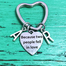 lovekeychian, Heart, letter print, Key Chain
