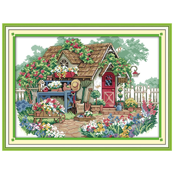 Home Decor, countedcrossstitch, Cross, Kit